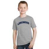 Youth Grey T-Shirt-Arched Longwood