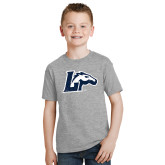 Youth Grey T-Shirt-L w/ Horse Distressed