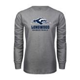 Grey Long Sleeve T-Shirt-Basketball