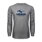 Grey Long Sleeve T-Shirt-Lacrosse