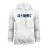 White Fleece Hoodie-Longwood Lancers Wordmark