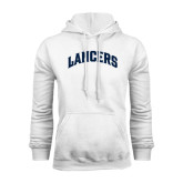 White Fleece Hoodie-Arched Lancers