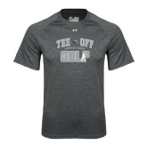 Under Armour Carbon Heather Tech Tee-Tee Off Golf Design