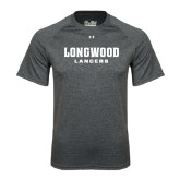 Under Armour Carbon Heather Tech Tee-Longwood Lancers Wordmark