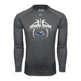 Under Armour Carbon Heather Long Sleeve Tech Tee-Basketball in Ball Design