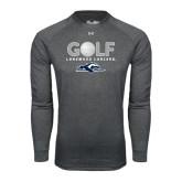 Under Armour Carbon Heather Long Sleeve Tech Tee-Golf w/ Golf Ball Design