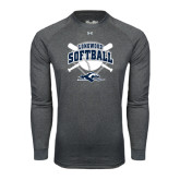 Under Armour Carbon Heather Long Sleeve Tech Tee-Softball Bats and Plate Design