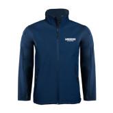 Navy Softshell Jacket-Longwood Lancers Wordmark