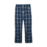 Navy/White Flannel Pajama Pant-L Horse