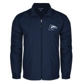Full Zip Navy Wind Jacket-L Horse