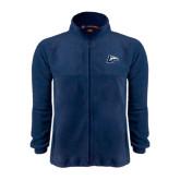 Fleece Full Zip Navy Jacket-L Horse