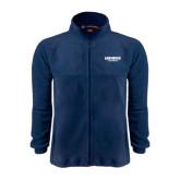 Fleece Full Zip Navy Jacket-Longwood Lancers Wordmark