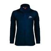Ladies Fleece Full Zip Navy Jacket-L Horse