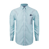 Mens Light Blue Oxford Long Sleeve Shirt-L Horse