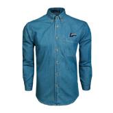 Denim Shirt Long Sleeve-L Horse