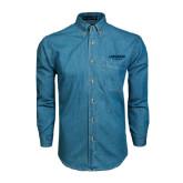 Denim Shirt Long Sleeve-Longwood Lancers Wordmark