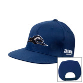 Navy Flat Bill Snapback Hat-Lancer