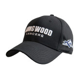 Black Heavyweight Twill Pro Style Hat-Longwood Lancers Wordmark