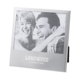 Silver 5 x 7 Photo Frame-Longwood Lancers Wordmark Engrave