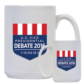Full Color White Mug 15oz-US Vice Presidental Debate 2016
