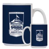 Full Color White Mug 15oz-Pediment  - U.S. Vice Presidential Debate 2016