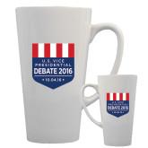 Full Color Latte Mug 17oz-US Vice Presidental Debate 2016
