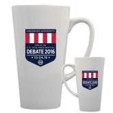 Full Color Latte Mug 17oz-Home of the U.S. Vice Presidential Debate 2016