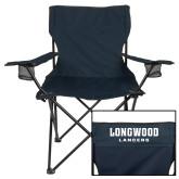 Deluxe Navy Captains Chair-Longwood Lancers Wordmark