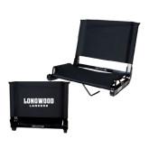 Stadium Chair Black-Longwood Lancers Wordmark
