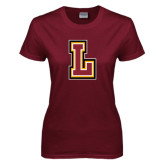 Ladies Maroon T Shirt-L
