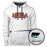 Contemporary Sofspun White Hoodie-Loyola New Orleans Arched