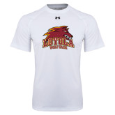 Under Armour White Tech Tee-Loyola Wolf Pack