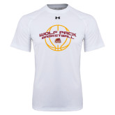 Under Armour White Tech Tee-Basketball Arched