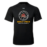 Under Armour Black Tech Tee-Volleyball On Top