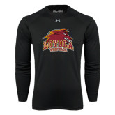 Under Armour Black Long Sleeve Tech Tee-Loyola Wolf Pack