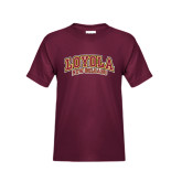 Youth Maroon T Shirt-Loyola New Orleans Arched