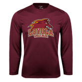 Syntrel Performance Maroon Longsleeve Shirt-Loyola Wolf Pack