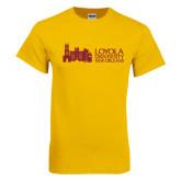 Gold T Shirt-Loyola University Mark