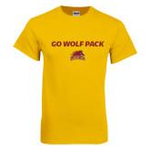 Gold T Shirt-Go Wolf Pack