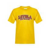 Youth Gold T Shirt-Loyola New Orleans Arched