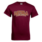 Maroon T Shirt-Loyola New Orleans Arched