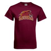 Maroon T Shirt-Loyola Wolf