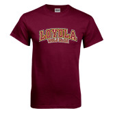 Maroon T Shirt-Loyola Wolf Pack Arched