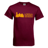 Maroon T Shirt-Loyola University Mark