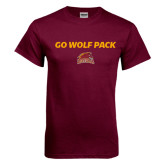 Maroon T Shirt-Go Wolf Pack