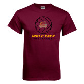 Maroon T Shirt-Volleyball On Top