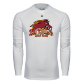 Under Armour White Long Sleeve Tech Tee-Loyola Wolf Pack
