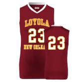 Replica Maroon Adult Basketball Jersey-23