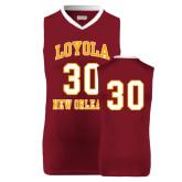 Replica Maroon Adult Basketball Jersey-30