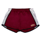 Ladies Maroon/White Team Short-Loyola New Orleans Arched